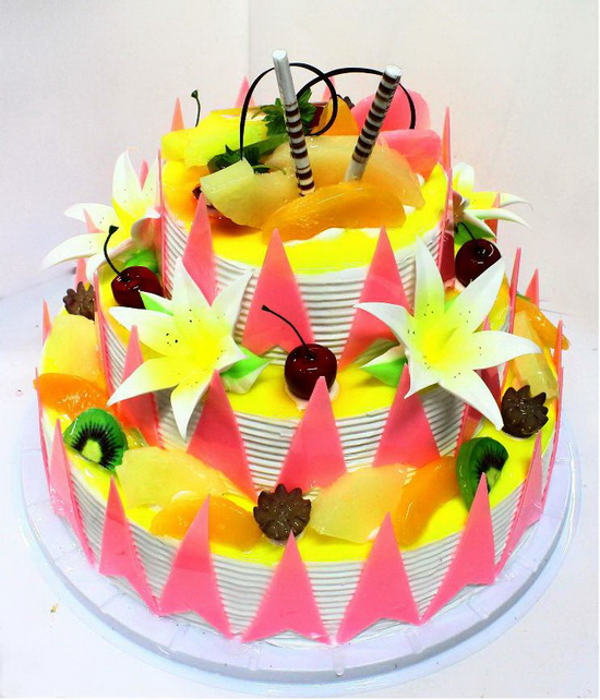 3 layer round cake mh05246 3 layer round cake miracle for Decoration layer cake